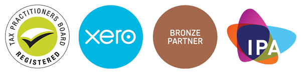 Logos for Australian Tax Practitioners Board, Xero Accounting software and IPA Institute of Public Accountants